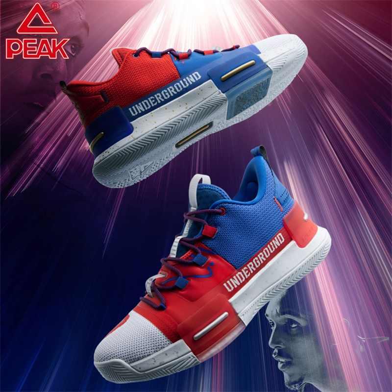 PEAK Louis Williams ใต้ดินผู้ชายบาสเกตบอลรองเท้า TAICHI Adaptive CUSHIONING รองเท้าผ้าใบรองเท้าลื่น