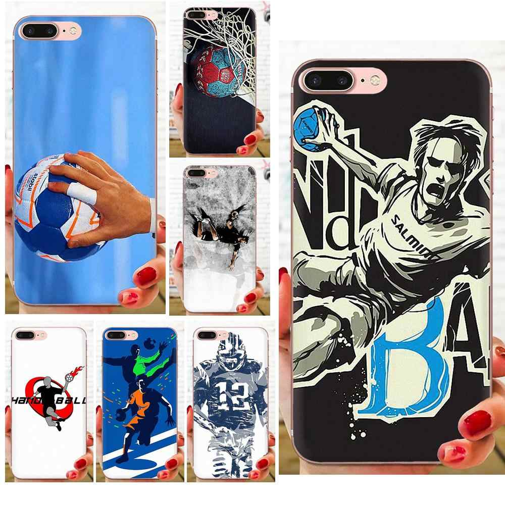 TPU Mobile Phone Case Cover Handball For Apple iPhone 4 4S 5 5C 5S SE 6 6S 7 8 11 Plus Pro X XS Max XR