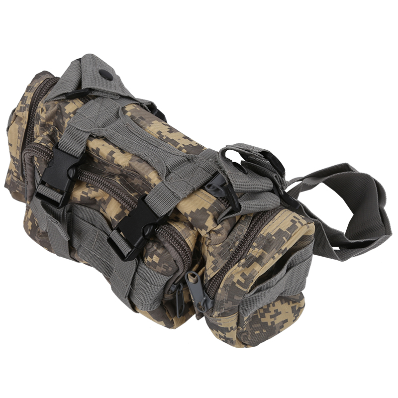 Men  Waist Pack Shoulder Bag Handbag Camping Hiking Sport Outdoor Multi-purpose Bag ACU Camouflage