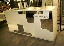 Nuevo estilo de escritorio de efectivo de alta gama Simple de moda supermercado y centros comerciales de madera caja registradora fabricantes venta directa de tela