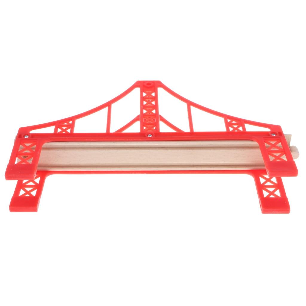 Compatible Wooden Trains Railway Building Set Accessories Bridge Rails Locomotive, etc Kids Educational Toy