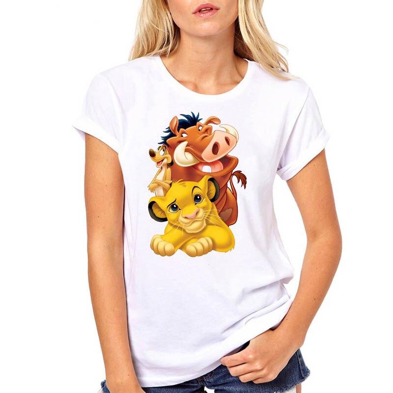 Women Tshirt Printed Cute Hakuna Matata Lion King Print Woman Harajuku Kawaii Camisas Mujer Top Tee Shirt T Female T-shirt