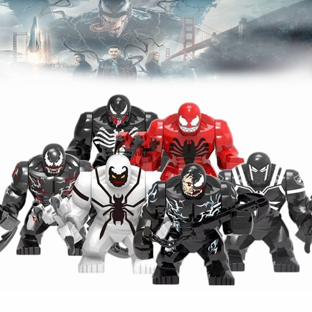 Venom Marvel Avengers Movie Figures Thanos Iron Man Hulk War Machine Batman Spiderman Carnage Endgame Building