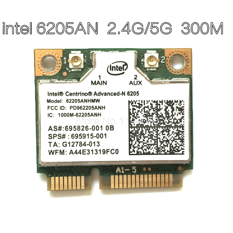 Wireless Card Adapters for Intel Centrino Advanced-n 6205 62205an 62205hmw 300 Mbps WiFi Mini pci-e 2.4 / 5 GHz(China)
