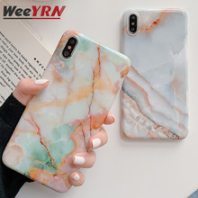 Glossy Marble Granite Phone Case Cover For iPhone XR XS Max X Soft Silicone TPU Case Back Cover For iPhone 7 8 Plus 6 6S Plus glossy soft tpu back case shell for iphone 6 plus 6s plus dreamcatcher pattern
