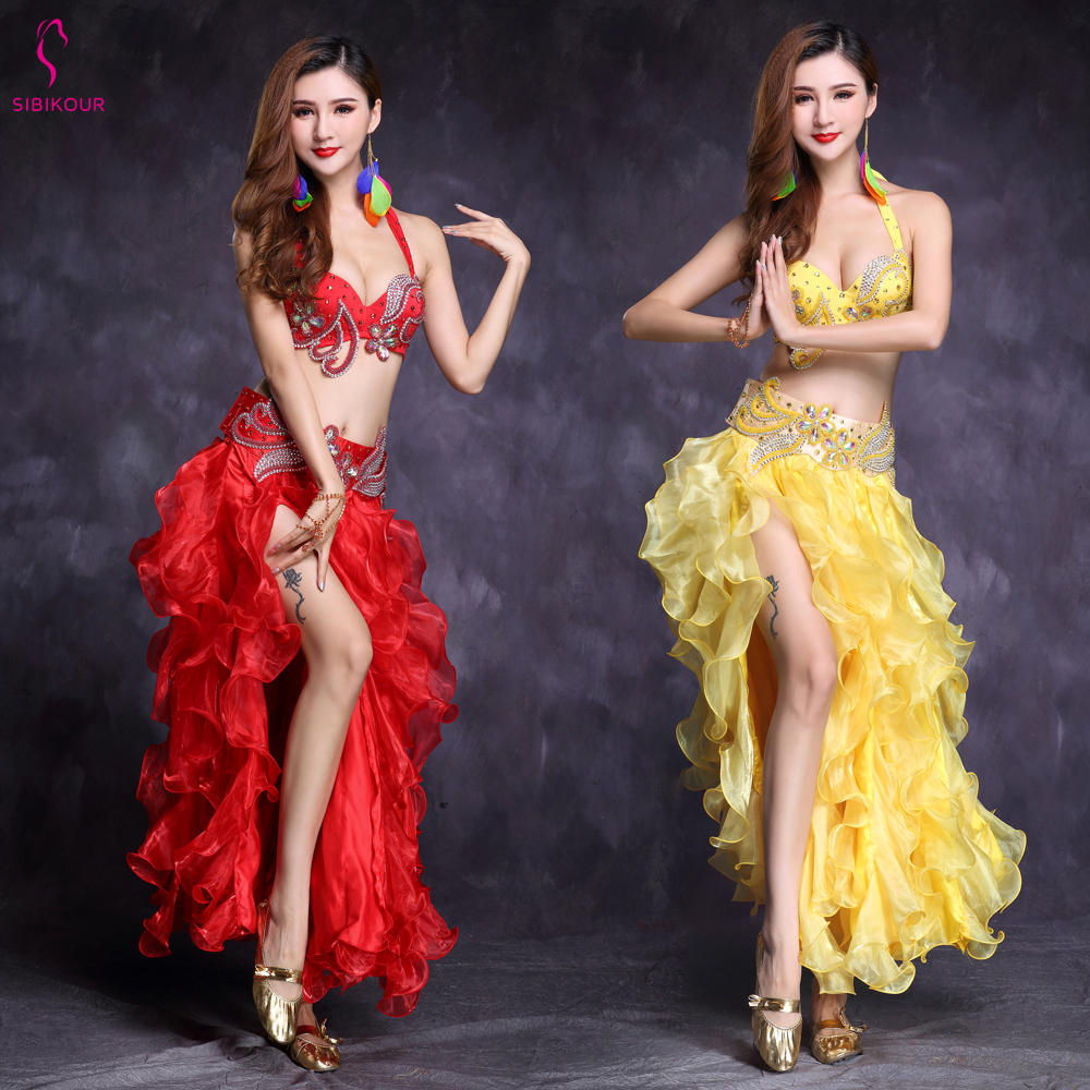 Belly Dance Costume Set For Women Belly Dance Skirt Oriental Bollywood Adult EgyptianEgypt Indian Dance Clothes High Quality