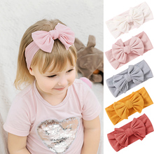 Bowknot Baby Headband Elastic Turban Hairband Bows kids Baby Girl Headbands Hair bands for Baby Girls Haarband Hair accessories sunlikeyou baby headband butterfly girls embroidery hair bands for girls kids headbands turban newborn baby hair accessories