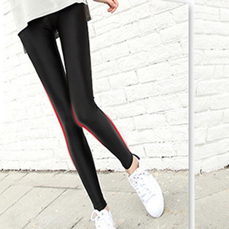 Women Casual Fitness Skinny Pants Female Long Leggings Black Full Length Leggings Outer Wear Elastic Leggings