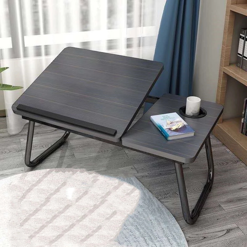 CN Laptop Table Simple Computer Desk With Fan For Bed Sofa Folding Adjustable Laptop Desk On The Bed