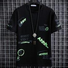 Homens Casual Camisetas Tees 2020 Nova Tops O Pescoço de Algodão solto verão impresso 3 cores Tamanho do casaco de mangas curtas de Alta Qualidade m-3XL