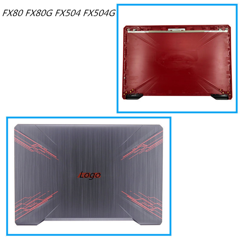 New LCD Back Cover Screen Lid Screen Cap For Asus FX80 FX80G FX504 FX504G Bezel Frame Front Housing Cover