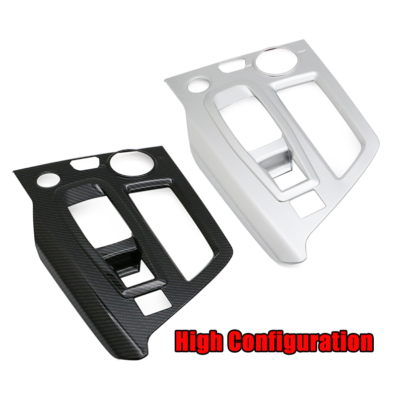 3008GT <font><b>5008</b></font> Carbon Fiber Gear Shift Knob Panel Cover Trim Frame Moulding For <font><b>Peugeot</b></font> <font><b>5008</b></font> 3008 GT <font><b>2016</b></font> 2017 2018 Interior Chrome image