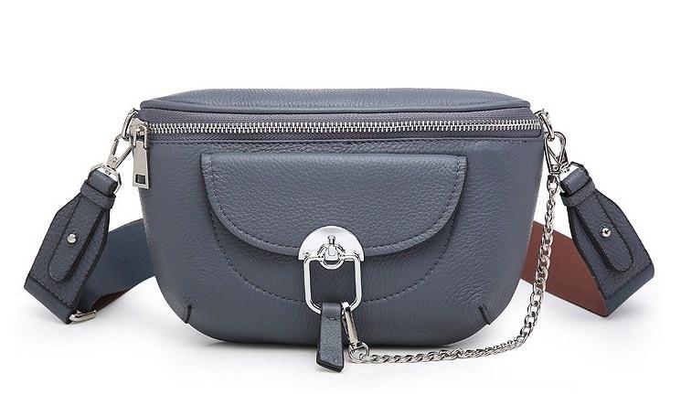 Genuine Leather Cow Skin Women Soft Belt Bag Small Waist Packs High Quality