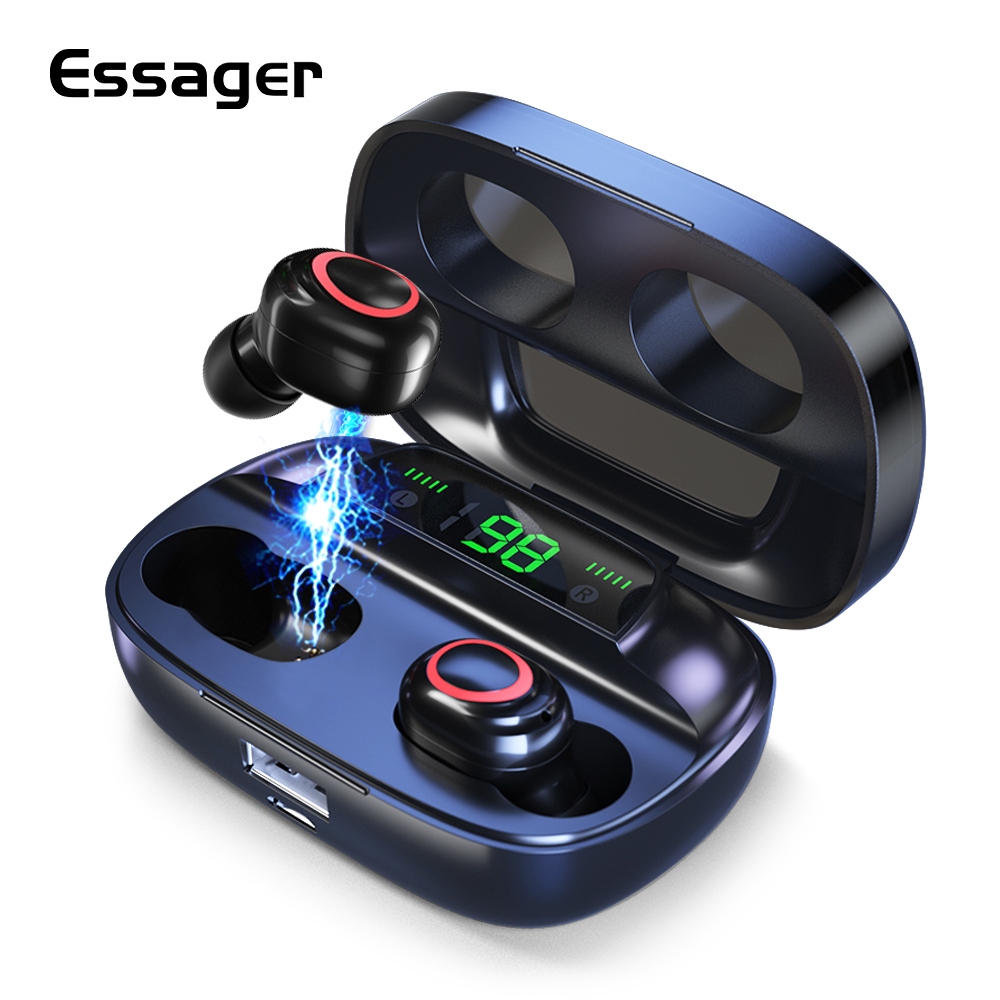 Essager S11 TWS Wireless Bluetooth 5.0 Earphone Headphones Mini Cordless Headset True Wireless Earbuds For Phone Xiaomi IPhone