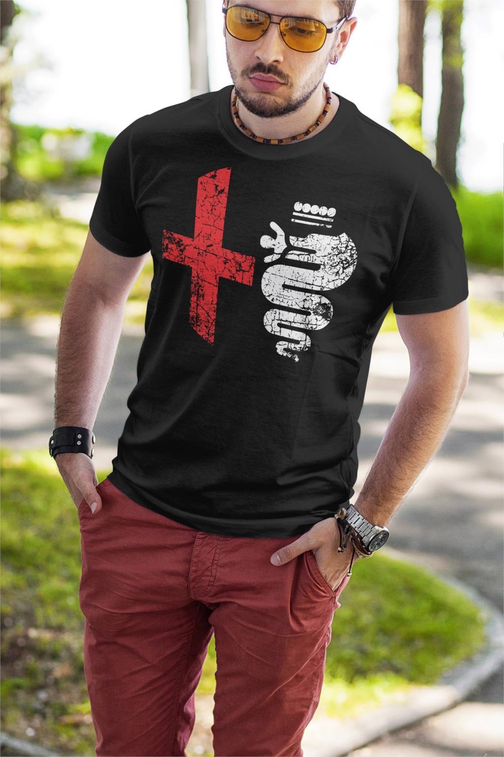 Модные Пользовательские Alfa Romeo Логотип белые и черные мужские футболки