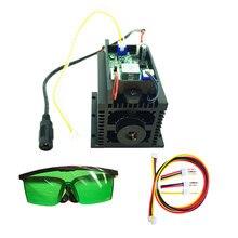 Ad alta potenza 15 w Incisione Laser Modulo 445nm 450nm Blu Diodo Laser Testa 15000mW 15 w Lazer FAI DA TE Mark su Metallo di CNC Macchina di Taglio