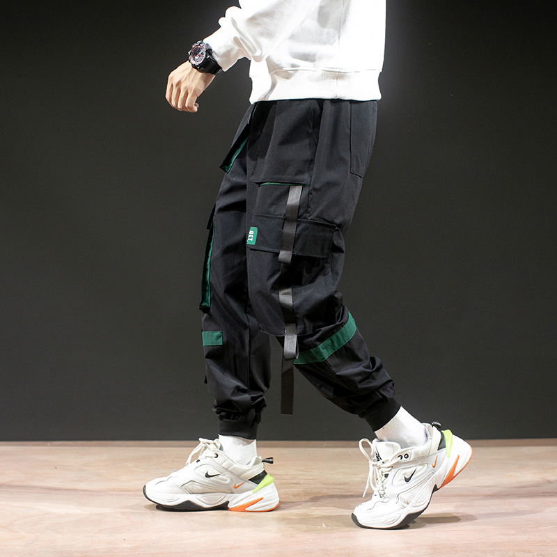 2019 Autumn And Winter New Style Korean-style Popular Brand Loose-Fit Multi-pockets Bib Overall Men's Fashion Beam Leg Casual Sp