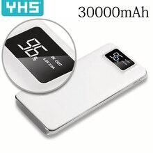 30000 мАч Внешний аккумулятор, внешний аккумулятор, 2 USB светодиодный внешний аккумулятор, портативное зарядное устройство для мобильного телефона, для Xiaomi Mi, iphone 11, huawei