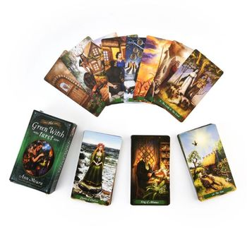 78pcs The Green Witch Tarot Cards Deck Green Witchcraft Series (8) Family Party Board Game Oracle Playing Card недорого