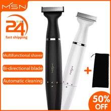 Elektrikli tıraş makinesi sakal düzeltici erkekler jileti kadın jilet makinesi tıraş tek bıçaklı yıkanabilir tam vücut saç kırpma 5