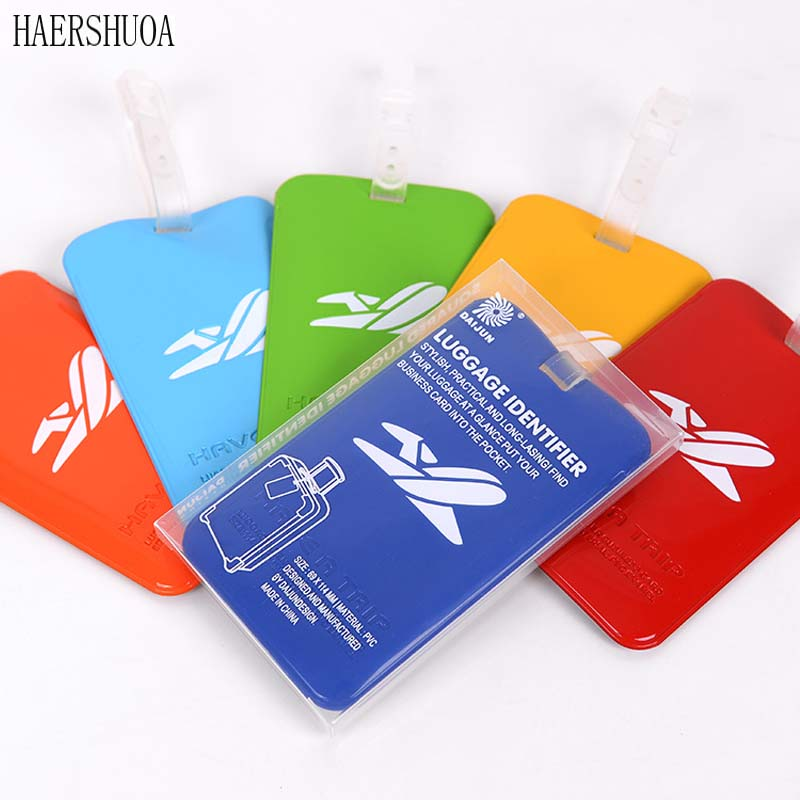 New Men And Women Fashion Luggage Tag Travel Accessories Identification Box Luggage Tag Portable Tag Bag Silicone Suitcase