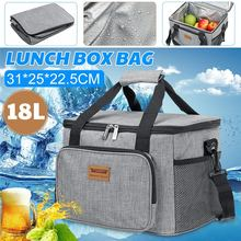Bag Picnic-Bag Ice-Pack Thermal-Cooler Outdoor Insulated Lunch-Box 18L for Work Car Frosted