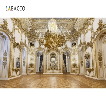 Laeacco Palace Chandelier Arch Door Interior Portrait Photophone Photography Backgrounds Photo Backdrops For Studio Props
