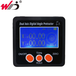Digital Angle Finder Dual Axis Digital Protractor Inclinometer Bevel Box Aluminum Alloy Frame With Magnets Angle Gauge Digital