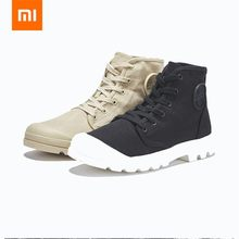 Xiaomi ULEEMARK Men High-tops Canvas Shoes Sneakers Non-slip Sports Running Wear-resistant Tire Soles Hiking