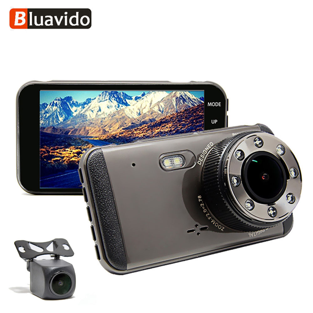 Bluavido DVR Car-Dash-Camera ADAS Registrator Dual-Lens Motion-Detection Night-Vision