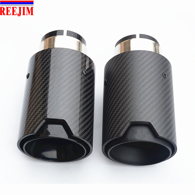 1 Piece  BLACK M Performance carbon fiber muffler Exhaust Tip pipe for BMW car-styling