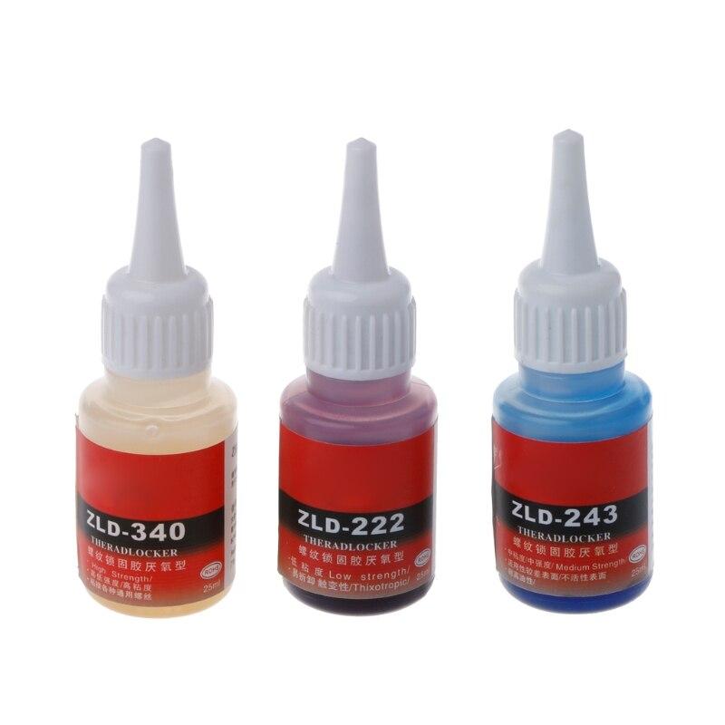 Анаэробный 243 222 340 винт жидкий клей фиксированный предотвращающий винт ржавчины свободное фиксированное оборудование