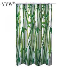 1 Pc Bath Screens Bathroom Curtain Green Plant Waterproof Shower Curtains For Douchegor Home Decor