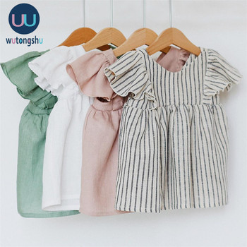 Linen Baby Dresses Summer Girls Clothes Princess Dress 1st Birthday Party Dress For Girl Cute Infant toddler Girls Clothing цена 2017