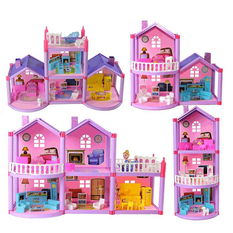 Peppa Pig  George Toy House Set George Friend Cartoon Anime Action Character Real Scene Model Children's Birthday Xmas Toy Gift