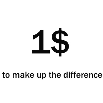 0.01 $ make up the difference image