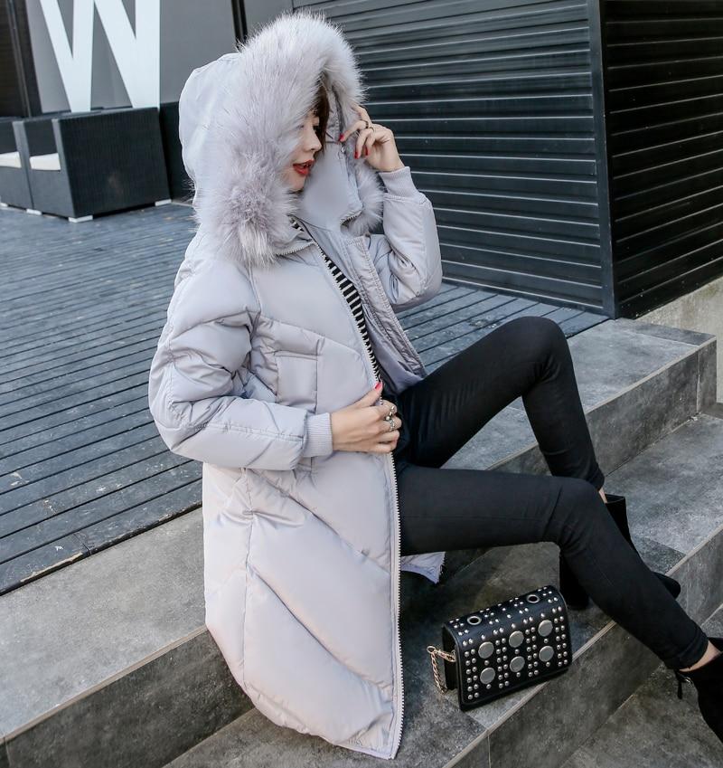 2019 High Quality Winter Jacket Women Hooded Fur Collar Warm Thicken F_B1_12