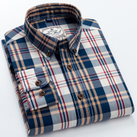 England Style Contrast Casual Checkered Shirts 1