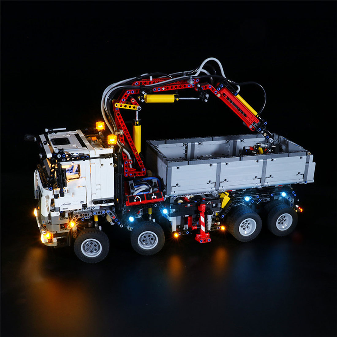 USB Powered LED Lighting Kit for <font><b>Technic</b></font> Mercedes-Benz Arocs 3245 <font><b>42043</b></font> (Only LED Light, No Block Kit) image