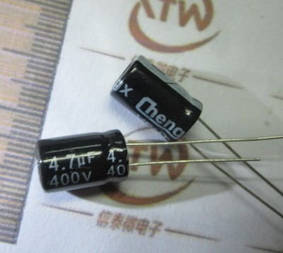 Free Delivery.All series electrolytic capacitors <font><b>400</b></font> V <font><b>4.7</b></font> - <font><b>4.7</b></font> uF ultrafiltration image