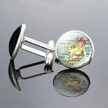 Europe Countries Map Cufflinks Italy France Scotland Poland Fashion Business Party Cuff Button Cuff Links Jewelry Gift For Men(China)