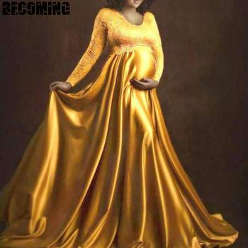 Maternity Dresses For Photo Shoot Chiffon Pregnancy Dress Photography Props Maxi Gown Dresses For Pregnant Women Clothes 1709642 s m l xl maternity dress for photo shoot maxi maternity gown split front maternity chiffon gown sexy maternity photography props