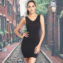 Корректирующее платье без рукавов для похудения, Корректирующее белье для талии, бесшовное нижнее белье с v-образным вырезом, платье-комбинация для женщин, платья с открытой спиной