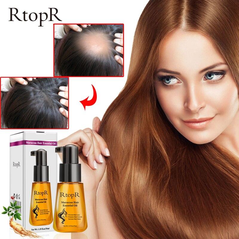 RtopR 35 мл марокканское чистое аргановое масло эфирное масло для волос для сухих поврежденных волос натуральная питательная сыворотка для во...