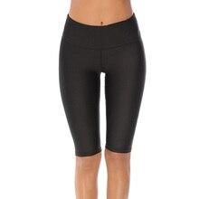 Штаны Для Йоги до колена с высокой талией, женские спортивные Обтягивающие Леггинсы для йоги, спортивная одежда для бега, эластичные штаны для тренировок для девушек