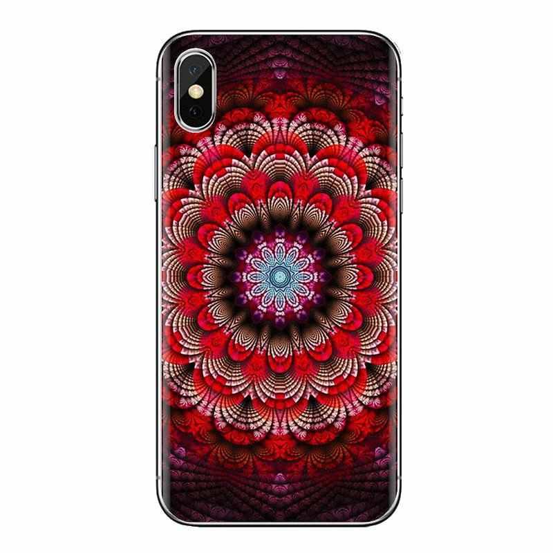 Covers Voor iPhone XS Max XR X 4 4S 5 5S 5C SE 6 6S 7 8 plus Samsung Galaxy J1 J3 J5 J7 A3 A5 Lace metallic Mandala Paisley Henna