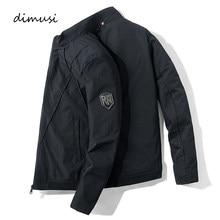 DIMUSI męskie kurtki-pilotki Casual męska odzież wierzchnia płaszcze ze stójką moda Hip-Hop płaszcz pilota Slim Fit kurtka bejsbolówka odzież