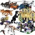 Lepining  наборы мир Юрского периода  4 парка  3 динозавра  Т-конструктор динозавр Рекс  Строительные кирпичи  детские игрушки для мальчиков  2019
