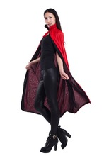 Cosplay Gothic Heroic Cloaks 2019 New Halloween Double-sided Cloak Velvet Witches Princess Death Long Cape Adult Kids Costume doctor strange cloak cosplay costume dr strange steve red cloaks magic robe halloween party long cape