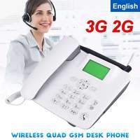 3G 2G GSM Fixed Wireless Phone Desk Mobile Phone LCD Screen SIM Card Desktop Antenna Interface incoming call display 100 240V